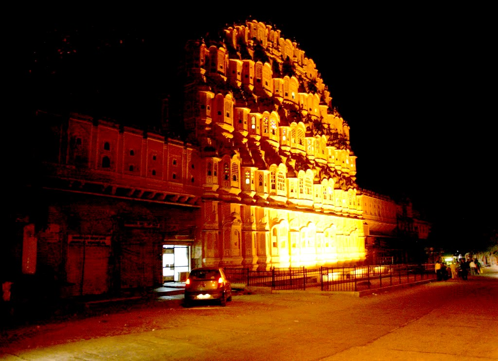 Hawa Mahal by Night, Jaipur