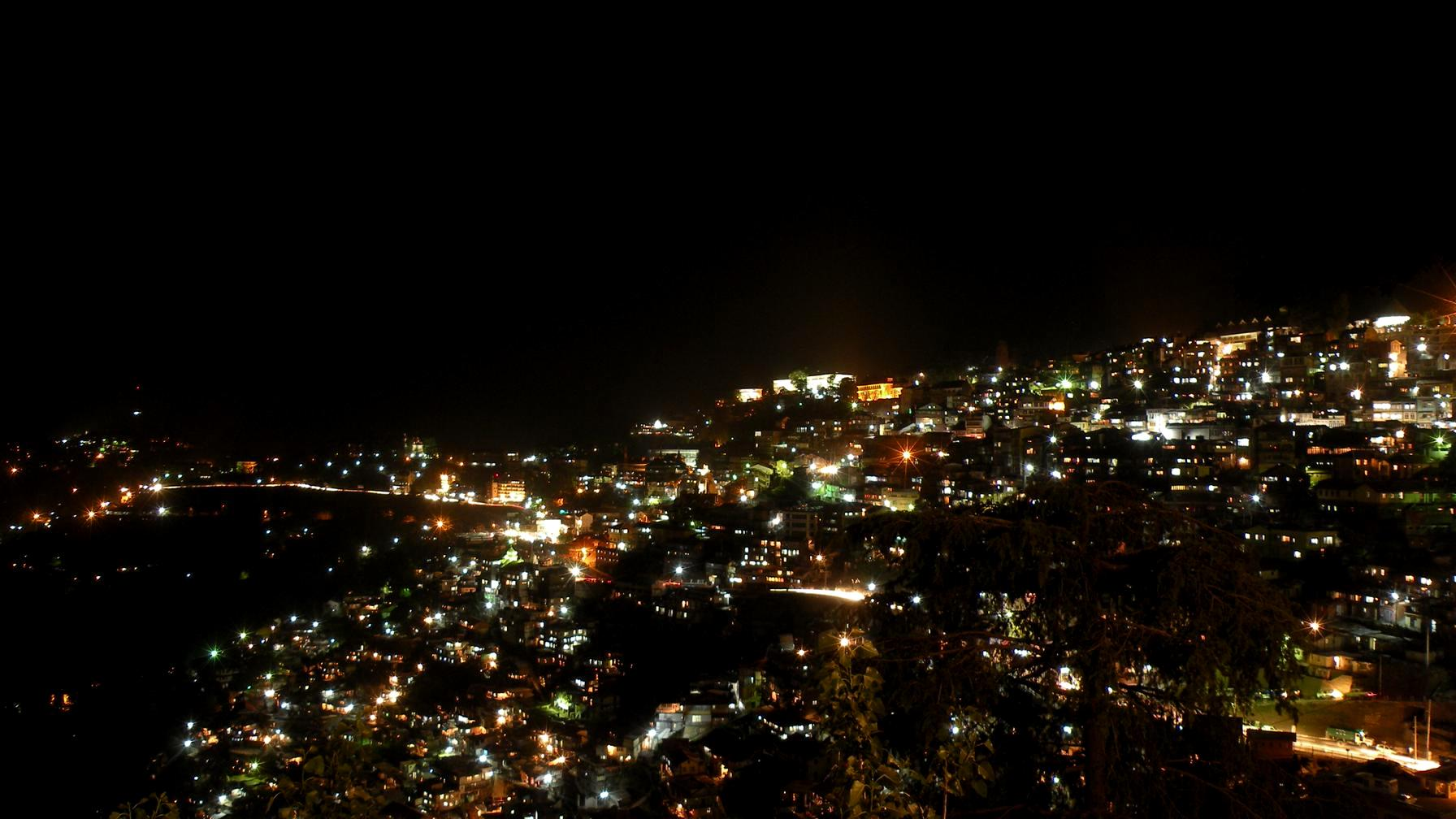 Night View of the City of Shimla